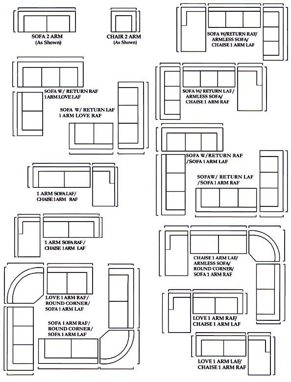 Sectional Sofa Configurations The Honoroak